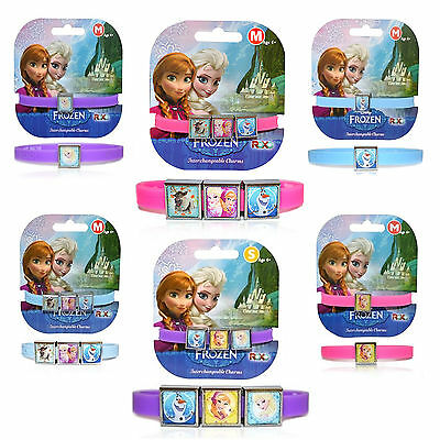 Official Disney Princess Frozen Anna Elsa Olaf Girls Charm Gummy Band New Gift