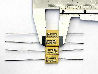 4 capacitor 0,022uF 22nF 250V Philips chicklet 341 MKC Polycarbonate Marshall