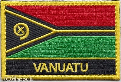 Vanuatu Flag Embroidered Patch Badge - Sew or Iron on