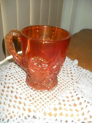Carnival Glass 474 Marigold pattern Imperial Glass Ohio Tankard Mug Coffee Cup