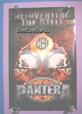 Pantera Poster  -  Cowboys From Hell!  Reinventing the Steel Poster.