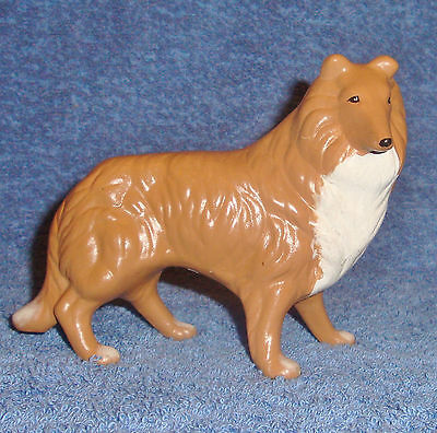 Regal Standing Collie Dog Hand Painted Ceramic Figurine from a Large Collection