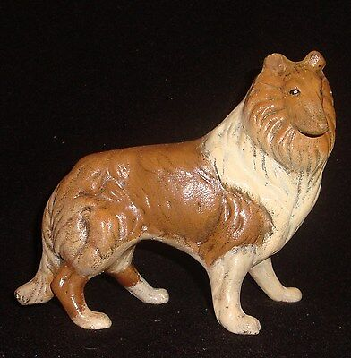 Very Nice Unique Sable & White Collie Dog Standing Figurine from a lg collection