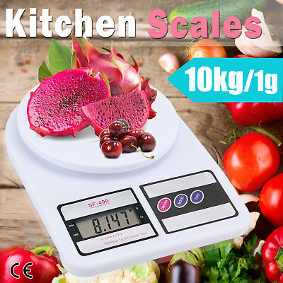 10kg/1g Kitchen Scale Digital LCD Electronic Postal Weight Food Balance Scales