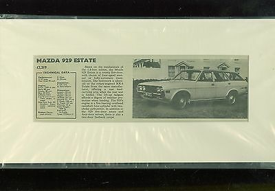 MAZDA 929 ESTATE specification summary (mounted & ready for framing)