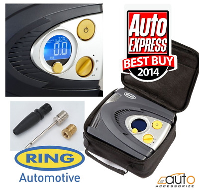 Ring RAC635 12v Preset Digital Air Compressor LED Light Wheel Tyre Inflator Pump