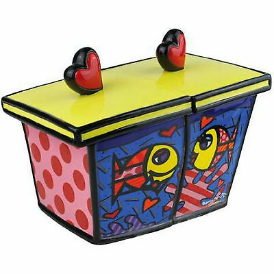 Romero Britto Canister  Deeply In Love  ** New **