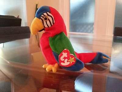 'Jabber' the Parrot Ty Beanie Baby - MINT - RETIRED