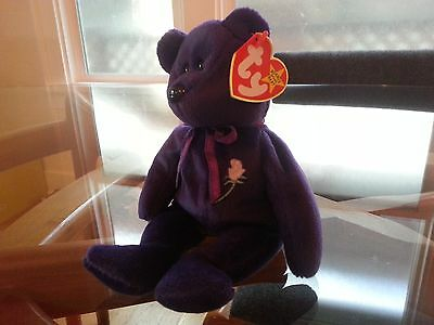 'Princess' the Bear Ty Beanie Baby - MINT - RETIRED - FREE SHIPPING!