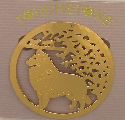 Belgian Tervuren Sheepdog Jewelry Gold Locking Back Pin