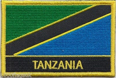 Tanzania Flag Embroidered Patch Badge - Sew or Iron on