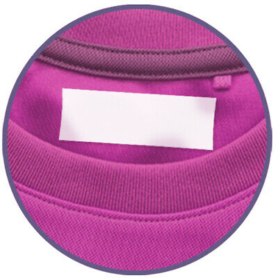 100 Blank Iron On Labels for Clothing
