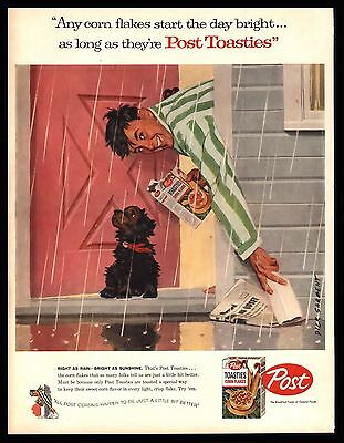"Original 1957 ""Post Toasties Cereal"" Vintage Print Ad - Dick Sargent"