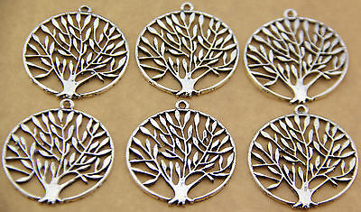 Free shipping hot 10pcs 3x3.5cm large tree of life alloy jewelry pendant
