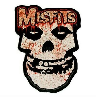"(#111) THE MISFITS BLOODY SKULL 5"" x 3.5"" die-cut decal sticker (512) Skulls"
