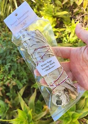 AMERICAN WHITE SAGE SMUDGE STICK~Packaged~Wicca Pagan Healing Cleansing Reiki