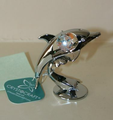 Crystocraft DOLPHIN Ornament with Strass Swarovski Crystal Elements Gift NEW