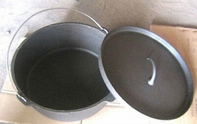 Dutch Oven Roaster 24 QT  Large Cast Iron Dutch Oven Roaster Pure Cast Iron