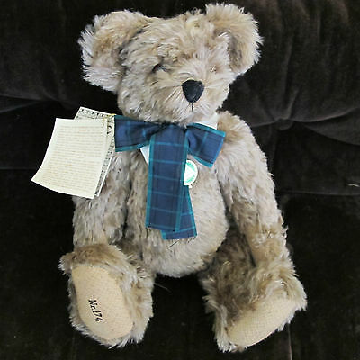 """Hermann Moving Head Bear Rare - 17"""" Mohair - Limited Edition 174 Of 1000"""