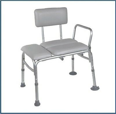 Drive Medical Padded Seat Transfer Bench, 12005KD-1 Shower Seat 400lb Capacity