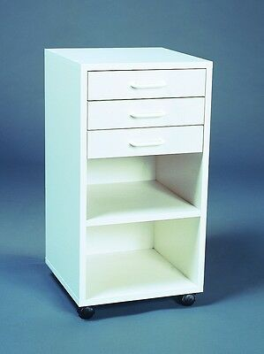 DENTAL/MEDICAL ~3-Drawer, 2-Shelf~ | *ASSEMBLED* | MOBILE CABINET/CART