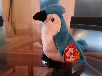 'Rocket' the BlueJay Ty Beanie Baby - MINT - RETIRED