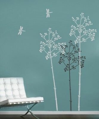Large Stencil Going to Seed, DIY reusable wall stencils not decals