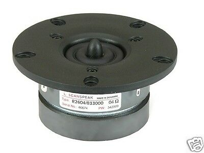 "Scan Speak Hochtöner R2604/833000 1"" Ring Dome Tweeter w.BuckingMagnet Discovery"