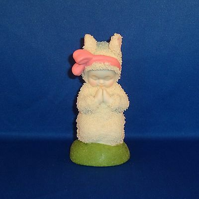 Department 56 - Snowbunnies - Bunny Prayers - Figurine - Pink Bow - NEW