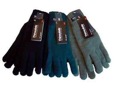 Ladies Knitted Gloves 40g Thinsulate Insulation Acrylic Winter Warm BNWT
