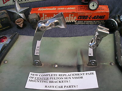 NEW COMPLET REPLACEMENT  PAIR OF CENTER FULTON SUN VISOR MOUNTING BRACKETS ! # 2