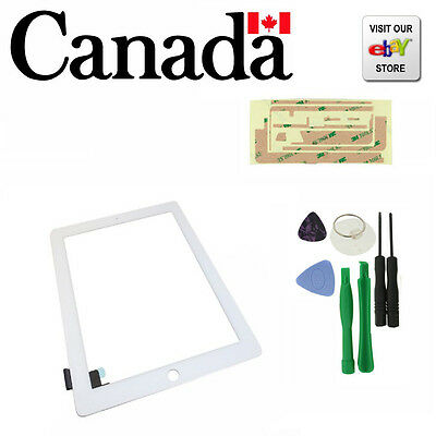 Replacement Touch Screen Glass Digitizer for  iPad 2  + Tools kit White
