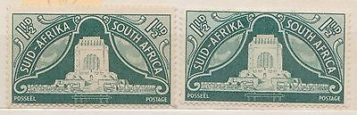 (RSB23) 1949 RSA 1½d x2 SUID&STH Africa MNG