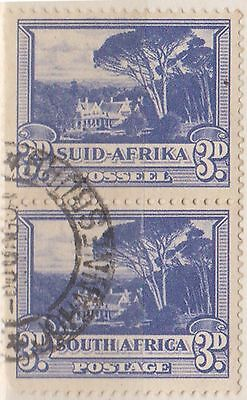 (RSB40) 1926 RSA 3d blue joined pair (D) used