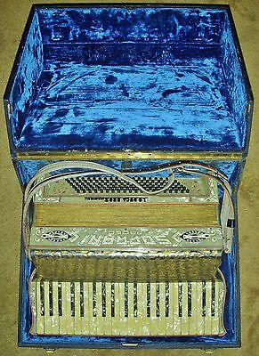 WOW! VINTAGE ACCORDION SOPRANI PAOLO MOTHER OF PEARL ITALY ANTIQUE RARE LODUCA