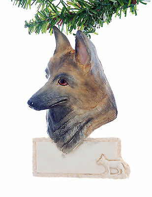 German Shepherd Personalized Christmas Ornament - Your name written  (D297)