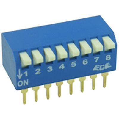 PCB Mounted Piano key DIL / DIP Switch 2 Way (2 Pack)