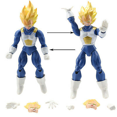 VEGETA -16Cm- 2 PERSONAGGI - Dragon Ball Z Super Sayan Figure Modellino Statuina