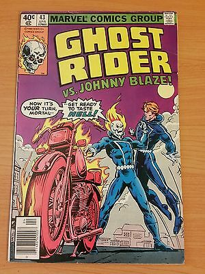 Ghost Rider #43 ~ FINE - VERY FINE VF ~ 1980 MARVEL COMICS