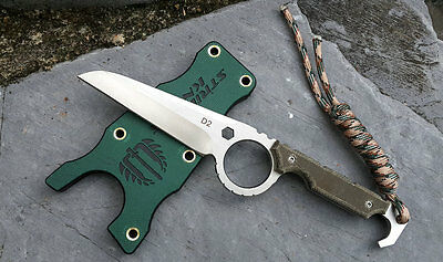 creative D2 fixed blade tactical strider knife karambit Mikta sheath gift box