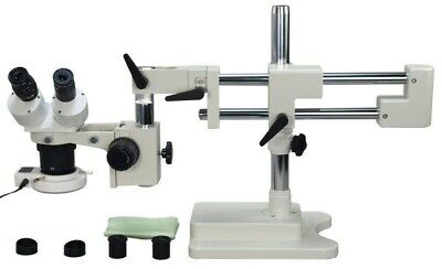 20X-40X-80X Stereo Boom Stand Microscope + 54 LED Light