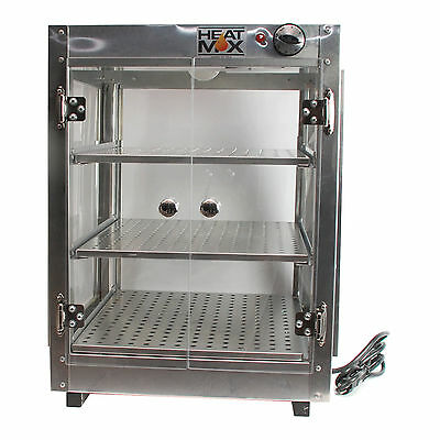 Commercial Countertop Food Warmer Display Case w/ Water Tray 18x18x24