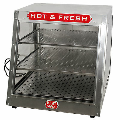 Commercial 24x24x24 Countertop Food Pizza Pastry Warmer Slant Display