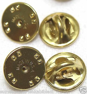 Brass clutch backs clasp butterfly pin back guards Lot of 4 to 500 your pick