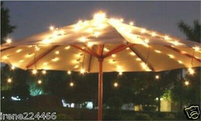 15 Strands Shooting Stars Over the Umbrella String Lights 150 clear bulbs NEW