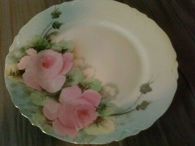 """Heinrich & Company Selb Bavaria Hand Painted 7.5"""" Plate  Gold Rimmed   FLAWLESS"""