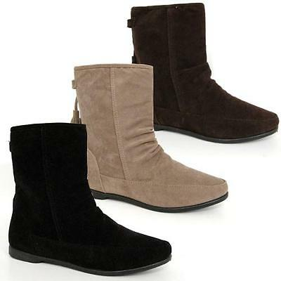 Ladies Ankle Boots Womens Chelsea Biker Girls Pixie Fashion Slouch School Shoes