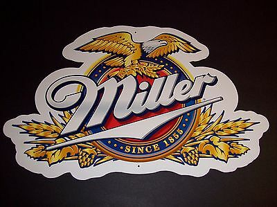 Miller Beer Since 1855 Double Sided Cardboard Sign Breweriana Collectible