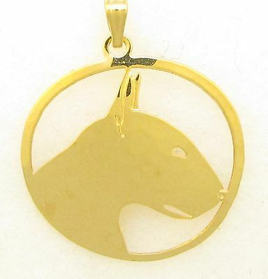 Bull Terrier Jewelry Gold Pendant by Touchstone