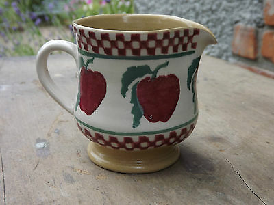 Nicholas Mosse Pottery small jug with red apple design Never Used Fully stamped